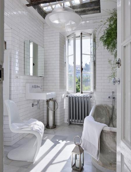 Eclectic home belighter - Salle de bain vintage design ...