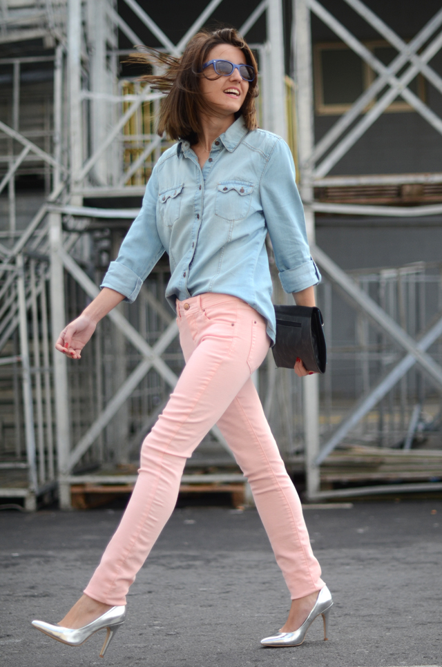 streetstyle – pink pants  belighter