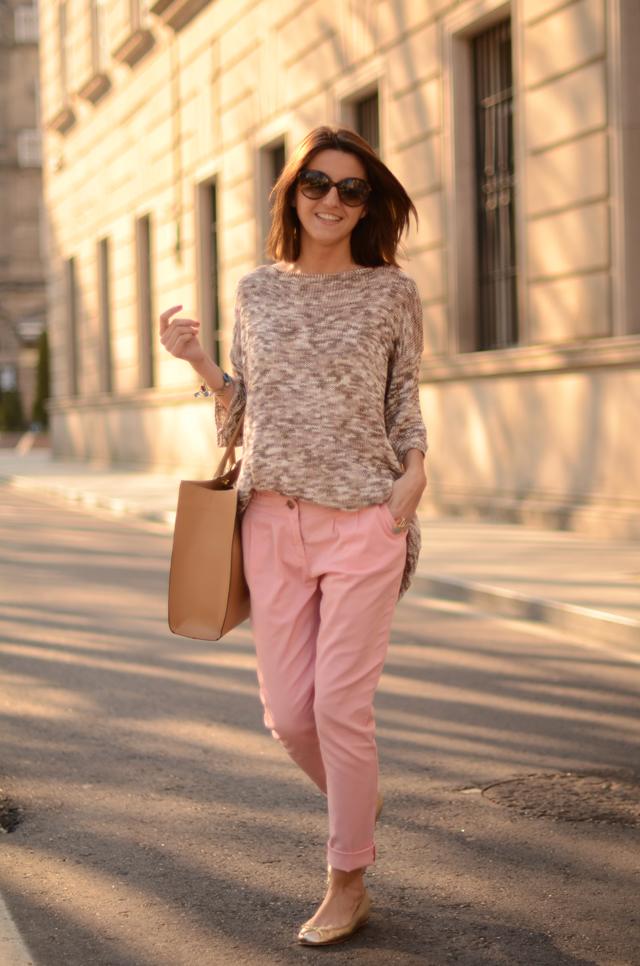 Light Brown Shoes Pants Colour
