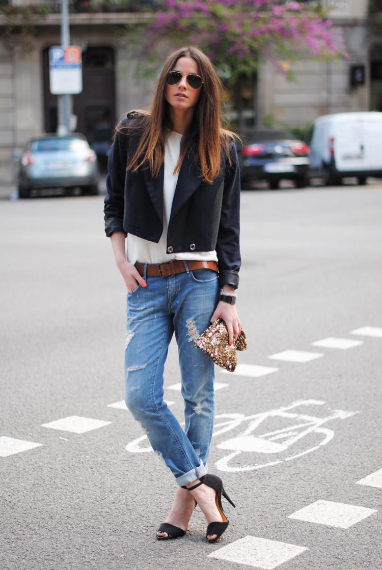 StreetStyle – Zara Heels & Jeans. Two Versions  BeLighter