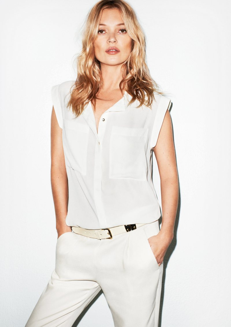 Kate Moss Is The Queen Of Cool On 37th Vogue Uk Cover: Kate Moss For Mango Summer 2012 Campaign