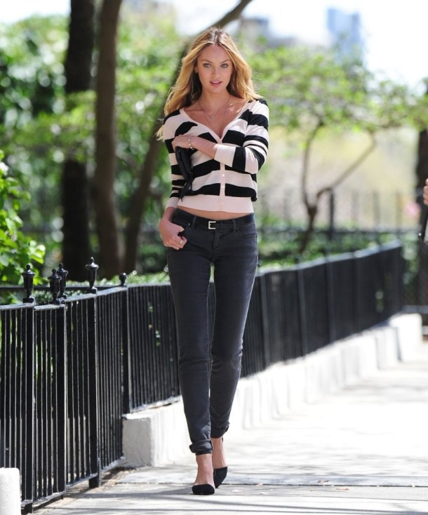Candice Swanepoel VS Fall 2013 catalog in Central Park in NYC-051