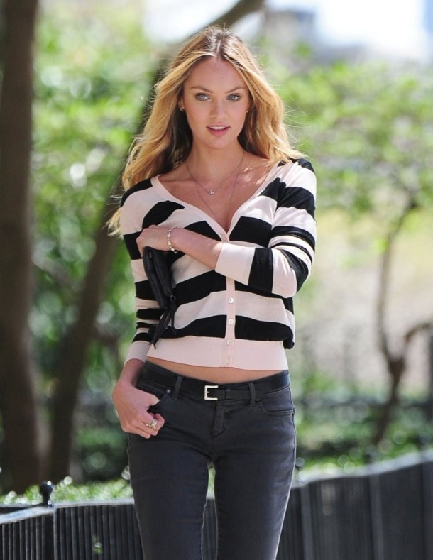 Candice Swanepoel VS Fall 2013 catalog in Central Park in NYC-054