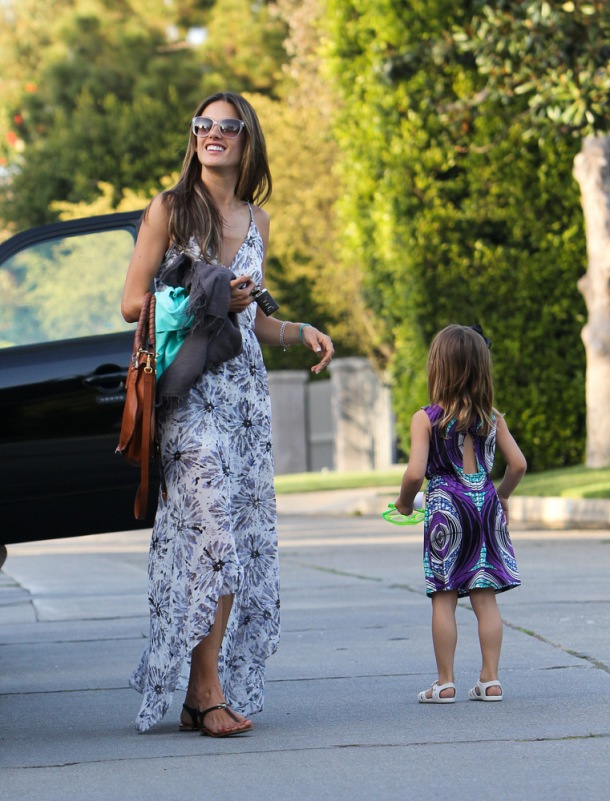 EXCLUSIVE: Alessandra Ambrosio's daughter Anja meets Woody and Buzz Lightyear
