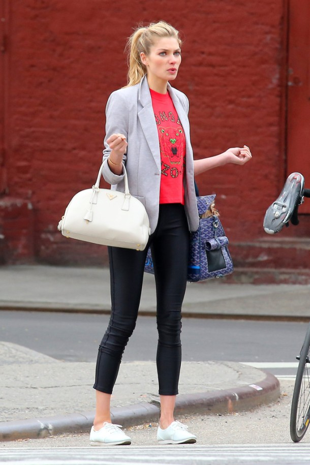 Jessica Hart West Village in New York, New York on April
