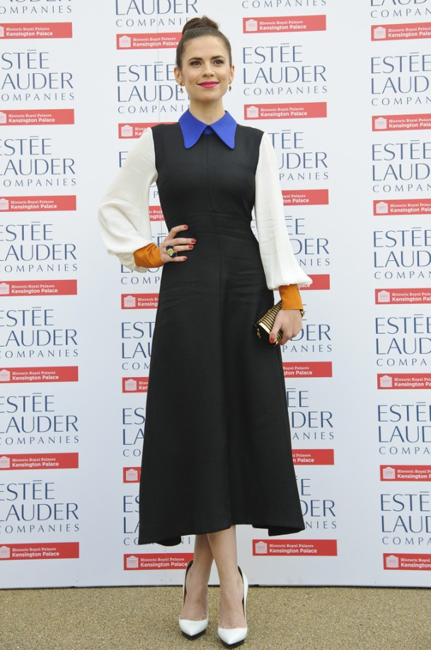 Hayley-Atwell-Wearing-Roksanda-Ilincic-Fashion-Rules-Exhibit-
