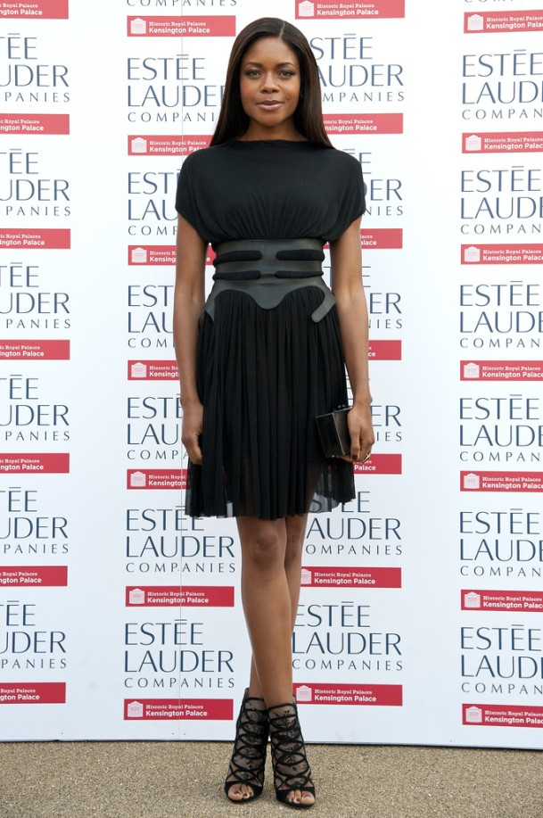 Naomie-Harris-Wearing-Marios-Schwab-Fashion-Rules-Exhibit-
