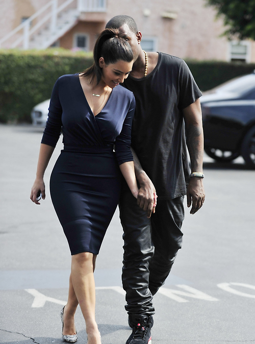 KIM KARDASHIAN AND KANYE WEST OUT FOR LUNCH IN HOLLYWOOD!