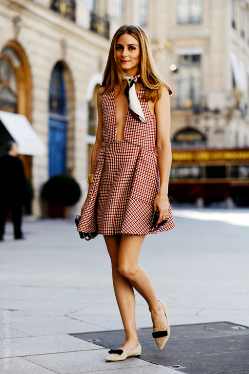 Olivia Palermo, arrival for Schiaparelli Haute Couture, Paris, PFW FW15 SS16.
